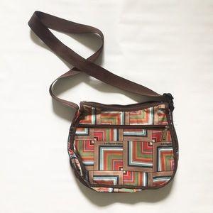 Lesportsac Classic Hobo Shoulder Bag Purse Brown